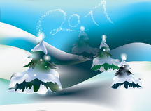 2011 wakacje sceny zima Zdjęcie Stock