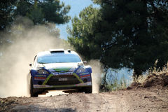 2011 WRC Rally Acropolis Royalty Free Stock Images