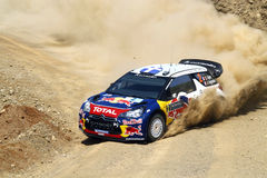 2011 WRC Rally Acropolis - Citroen DS3 Royalty Free Stock Photography