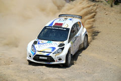 2011 WRC Rally Acropolis - Ford Fiesta Stock Photo