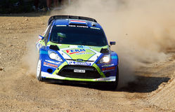 2011 WRC Rally Acropolis - Ford Fiesta RS Royalty Free Stock Photography