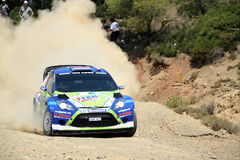 2011 WRC Rally Acropolis -  Ford Fiesta RS Royalty Free Stock Photos