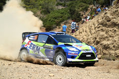 2011 WRC Rally Acropolis -  Ford Fiesta RS Royalty Free Stock Image