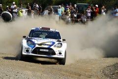 2011 WRC Sammlung-Akropolis - Ford-Fiesta Lizenzfreies Stockfoto