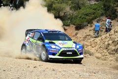 2011 WRC Sammlung-Akropolis - Ford-Fiesta RS Stockbilder