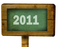 2011 written on a blackboard Royalty Free Stock Images