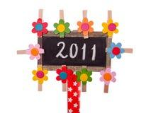 2011 written on a blackboard Stock Photo