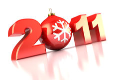 2011 xmas sign. Abstract 3d illustration of 2011 xmas sign over white background Royalty Free Stock Photos