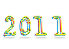 2011 year. Vector illustration of  2011 year number Stock Image