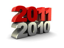 2011 year. Abstract 3d illustration of 2011 new year sign over old 2010 Vector Illustration