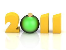 2011 year. Isolated 3D image Stock Photos