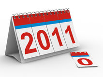 2011 year calendar on white backgroung. Isolated 3D image Stock Photography