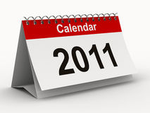 2011 year calendar on white backgroung. Isolated 3D image Royalty Free Stock Image