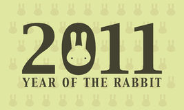 2011 year of rabbit. Wallpaper vector illustration