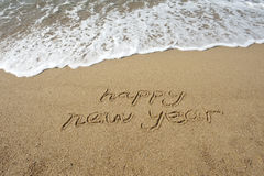 2011 year on sand Royalty Free Stock Photos