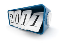 2011 year. Time  clock 3D. On white background Stock Photo