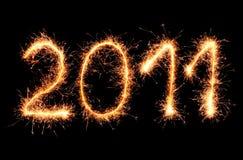 2011 zrobili sparkler Zdjęcie Stock