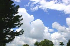 云彩集合风暴 库存图片