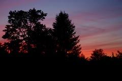 五颜六色的日落 库存图片