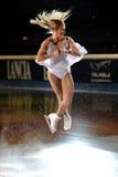 2011个证书金黄joannie rochette冰鞋 免版税库存照片