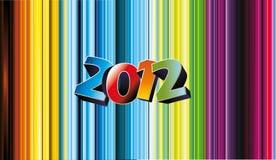 2012个向量numbe 免版税库存图片