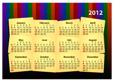 2012个日历创造性的模板 免版税库存图片