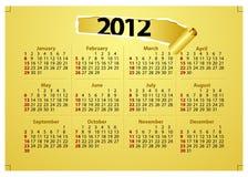 2012个日历创造性的模板 免版税库存照片