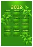 2012个日历创造性的模板 库存图片
