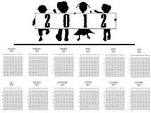 2012个日历孩子 库存图片
