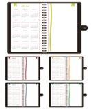 2012个日历笔记本 库存例证