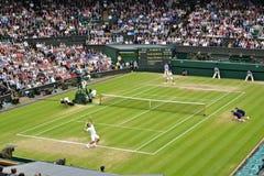 2012个最终人半s Wimbledon 库存图片