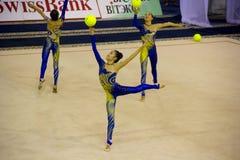 2012个杯子体操节奏性世界 免版税库存照片