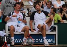 2012个杯子马力小组网球世界 库存照片