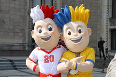 2012个欧洲吉祥人 免版税图库摄影