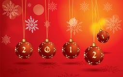 2012个球圣诞节停止的向量 库存图片