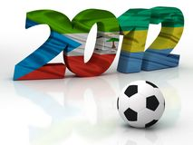 2012个非洲杯子国家 免版税库存图片