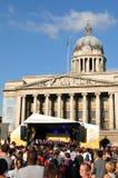 2012个音乐会伦敦奥林匹克继电器火炬 免版税库存照片