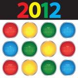 2012五颜六色的日历 免版税库存图片