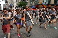 2012位同性恋者nyc游行自豪感 图库摄影