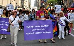 2012位同性恋者nyc游行自豪感 免版税库存照片