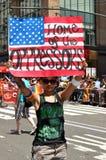 2012位同性恋者nyc游行自豪感 免版税图库摄影