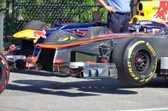 2012全部加拿大的汽车f1 mclaren prix赛跑 免版税库存图片