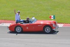 2012加拿大f1全部佩雷斯prix sergio 免版税库存图片