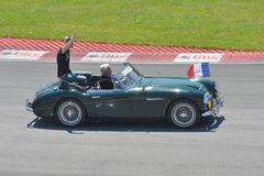 2012加拿大f1全部grosjean prix romain 免版税图库摄影
