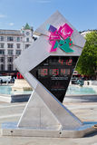 2012场时钟读秒比赛奥林匹克的伦敦 图库摄影