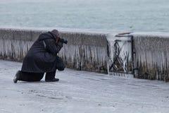 2012寒冷欧洲短冷期 免版税库存图片