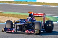 2012年丹尼尔f1 ricciardo rosso小组托罗 库存图片