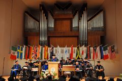 2012年仪式毕业suny的波茨坦 库存照片
