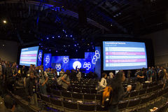 2012年会议teched的微软 库存照片