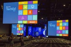2012年会议teched的微软 库存图片